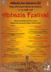 Manifesto e programma abbazia festival 2018