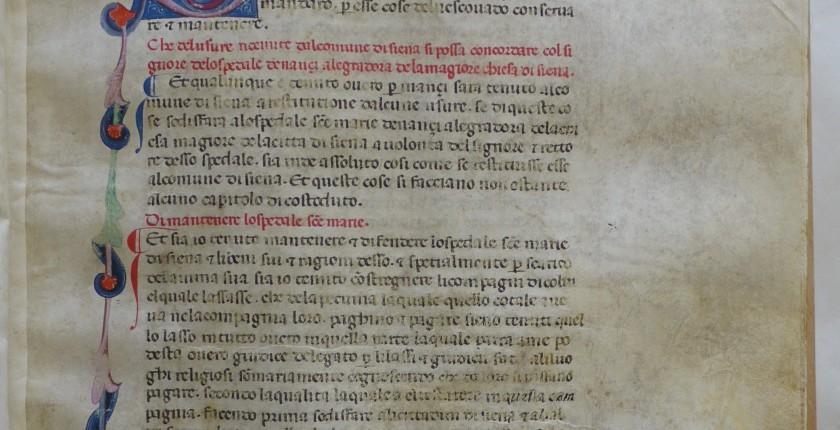 Statuti di Siena 19, c. 35 r (foto ASSI)