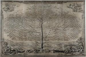 Albero genealogico Piccolomini, ASSi, 1685
