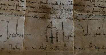particolare della pergamena, ASSi, Diplomatico S. Salvatore di Monte Amiata,1212_07_a14r